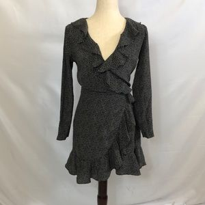 Ralph Lauren Club Monaco wrap dress polka dots 2